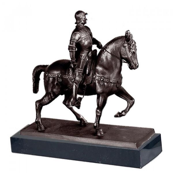 Edle Figur Reiter Standbild Bartolomeo Colleoni Frühes Italien