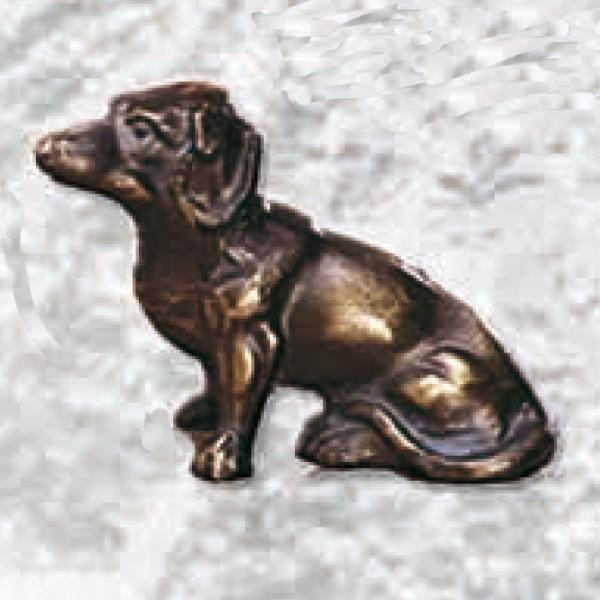 Figur Dackel Sitzend Hund Vereinstrophäe Pokal