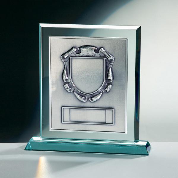 markante Trophäe JADE Glas Relief Joan