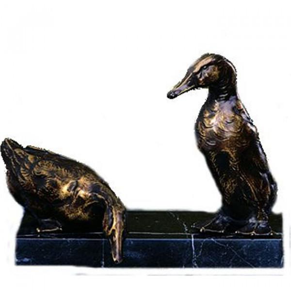 Elegante Figur Ente Erpel Paar Duck Vereinspreis Trophäe