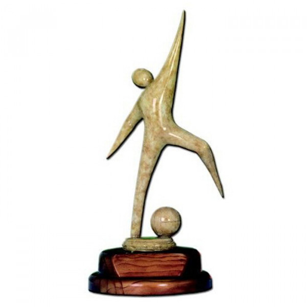 Edle Holz Figur Fußball Verein Sport Siegerpreis Trophy