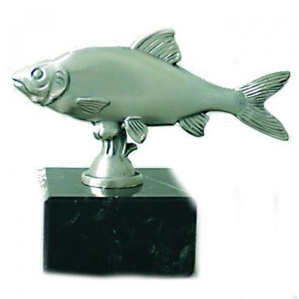 Edler Anglerpokal Rotauge Fischerverein Auszeichnung Silberoptik