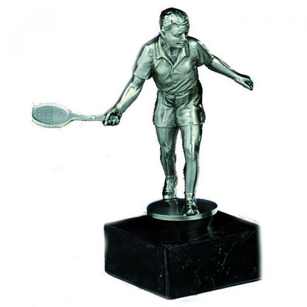 Figur Tennis Vereinssport Herren Edelstahltrophäe Ehrung