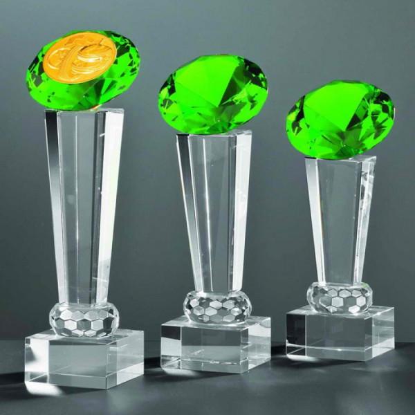 "Kristallglas Säule Diamant ""GREEN"""