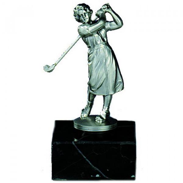 Figur Mini Golf Damen Ehrenpreis Trophy Hochwertige Silberoptik
