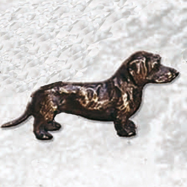 Edle Figur Dackel Hund Hundetrainer Wanderpokal Ehrung Verein