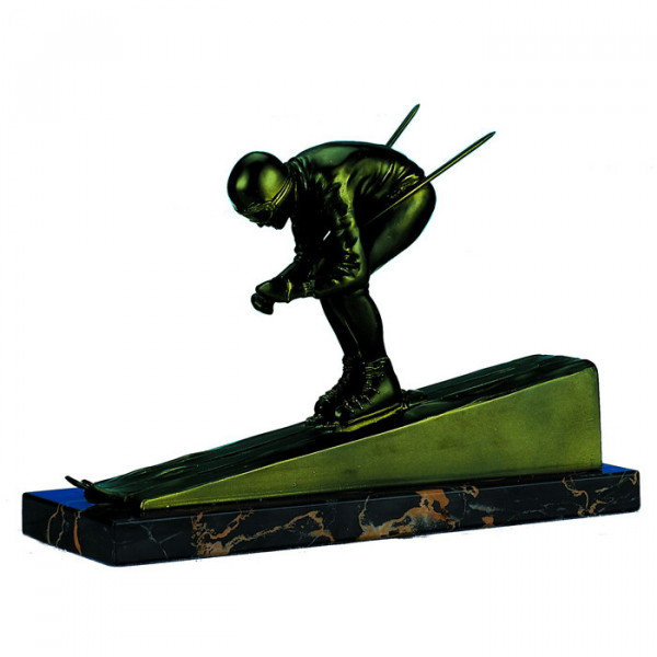 Sport Figur Ski Abfahrt Herren Champion Cup Trophy Pokal