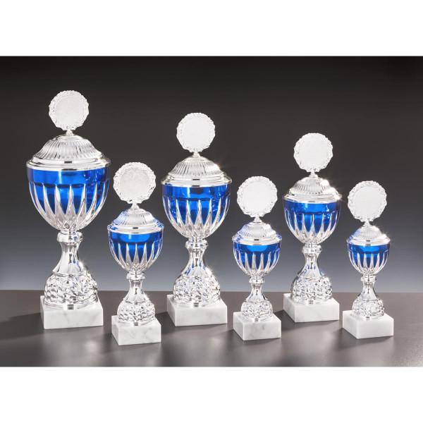 Pokal Silber-Blau Cornelia
