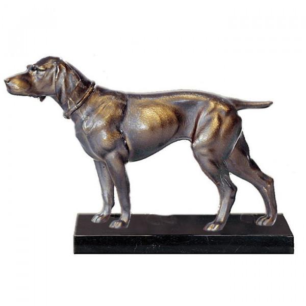 Figur Hund Deutsch Drahthaar Hundeführer Edles Auszeichnung Ehrung