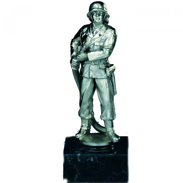 Figur Feuerwehr Herren Vereinsauszeichnung Silberdesign