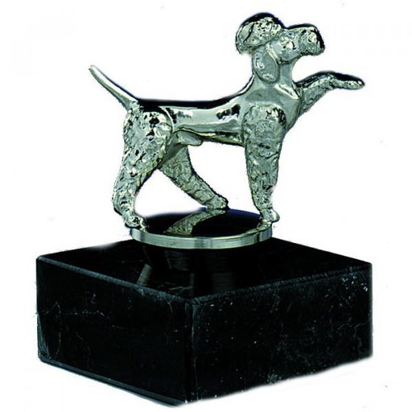 Figur Hundeführer Trainer Pudel Auszeichnung Ehrung Edelstahl