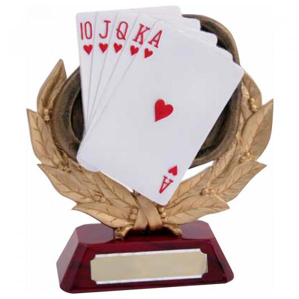 Figur Poker Skat Spielkarten Verein Siegerpokal Trophy