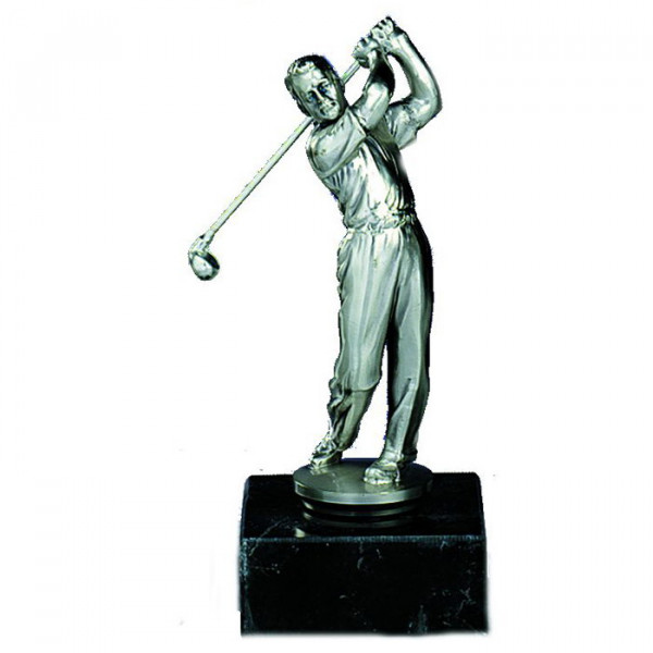 Figur Golf Herren Silberoptik