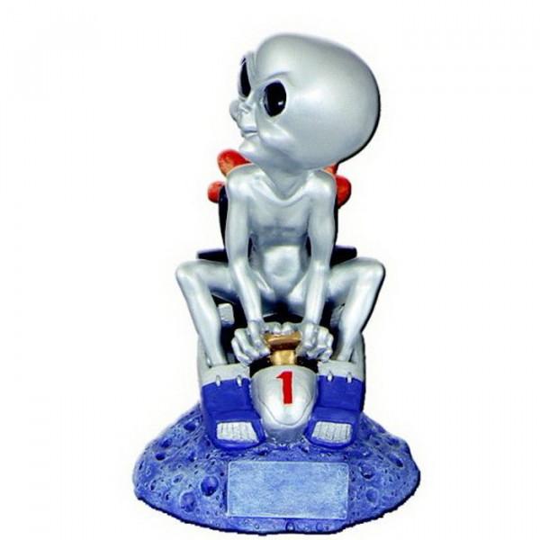 Figur Alien Kart Rennen Motorsport Vereinspreis Trophy