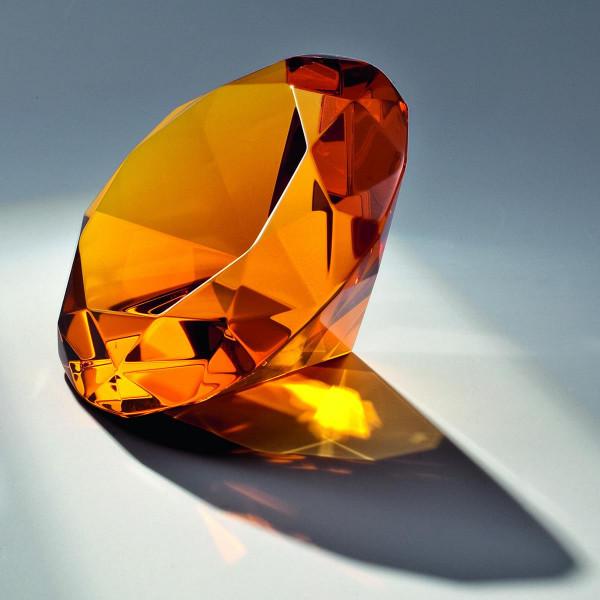 "Kristallglas Diamant ""Orange Diamond"""