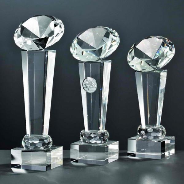 """Kristallglas Säule Diamant """"LIGHT"""""""