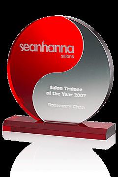 "Acrylglas Award ""Yin-Yang-Red"""