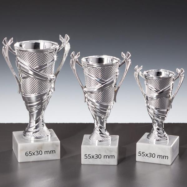 Ständer-Trophäe Sportpokal Cuppa Silber