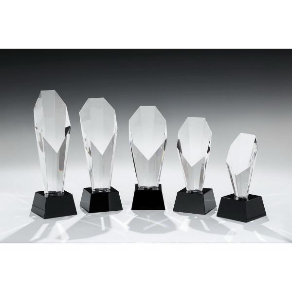 Glassockel schwarz Kristall Glaspfeiler Phoebe