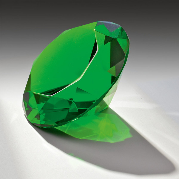 "Kristallglas Diamant ""Green Diamond"""