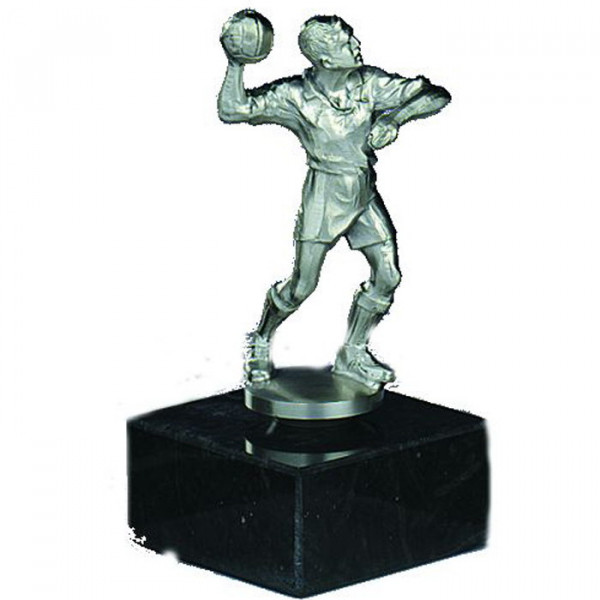 Sport Figur Handball Verein Herren Pokal Siegerehrung Silberoptik