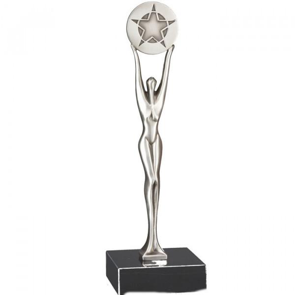 Designer Pokal WM Sport Trophy Edelmetalloptik