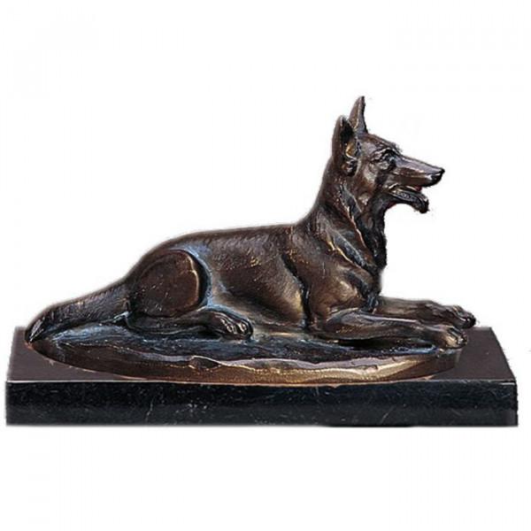 Figur Schäferhund Liegend Hundeführer Ehrung Trophäe
