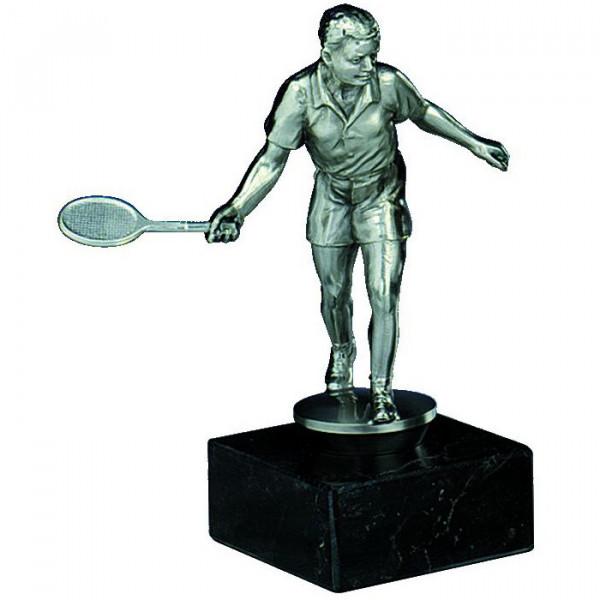 Sport Figur Squash Verein Herren Trophy Silberoptik