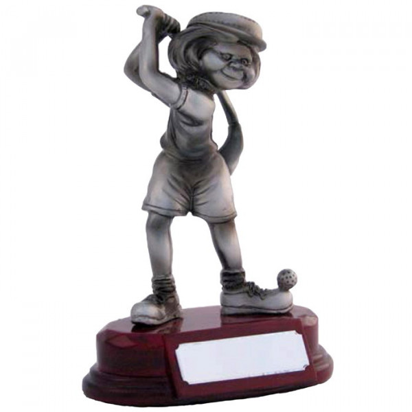 Cartoon Figur Golf Pokal Damen