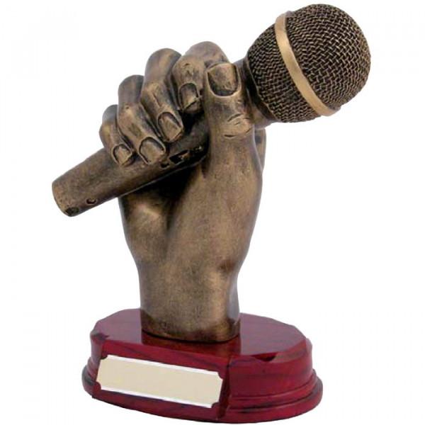 Figur Mikrofon Singen Karaoke Siegertrophäe Auszeichnung