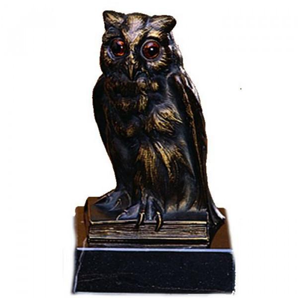 Hochwertig Gefertigte Figur Uhu - Eule Auszeichnung