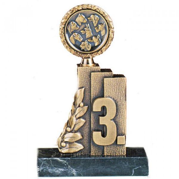 Hochwertiger Sportpokal Siegerehrung Edle Bronzeoptik