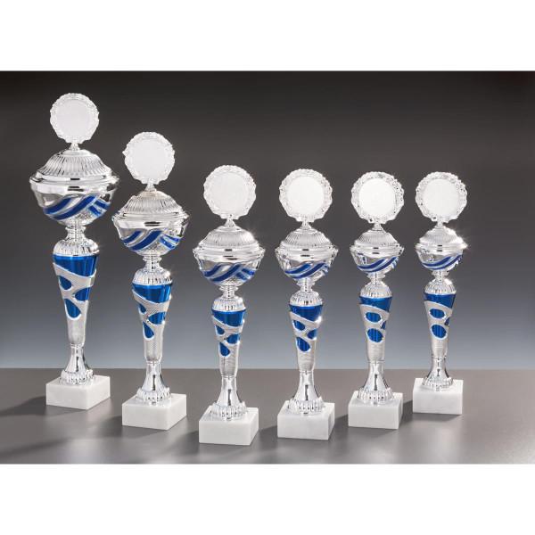 Pokal Silber-Blau Emely