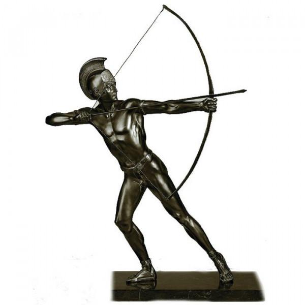Antik Figur Bogenschütze Herren Hochwertiges Auszeichnung