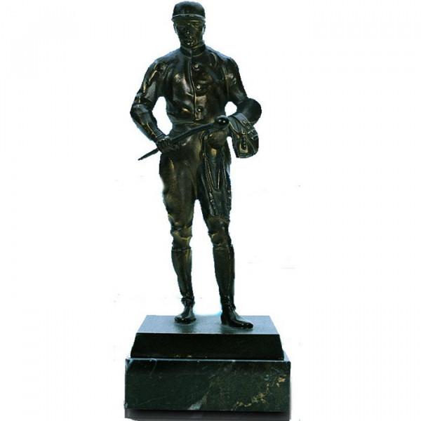 Hochwertige Figur Reiter Herren Pferdesport Trophy Siegerehrung