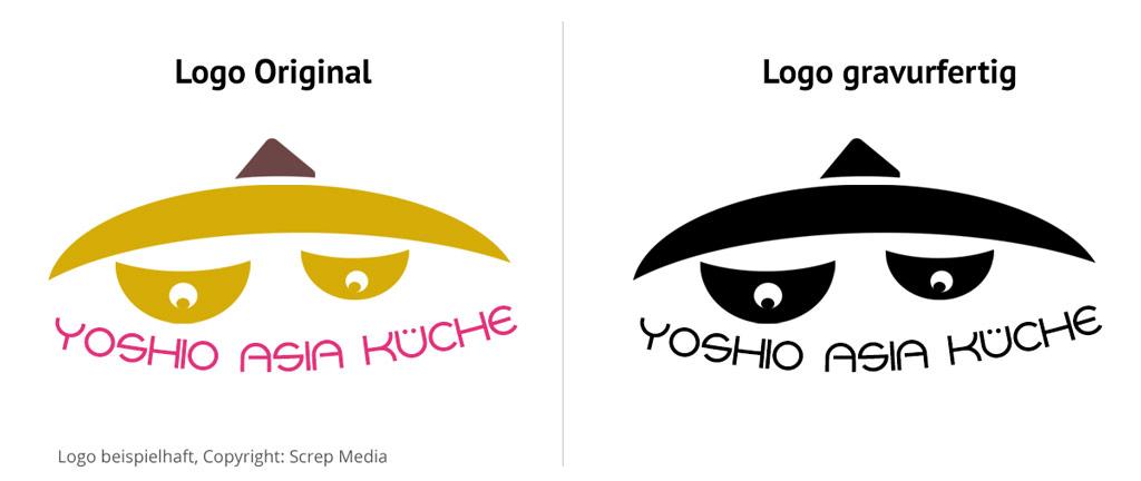 Logo-einfach-Gravurkonvertierung