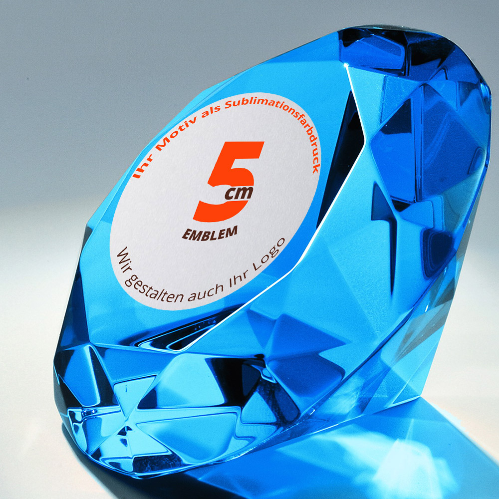 Diamant-blau-mit-farbiger-Plakette