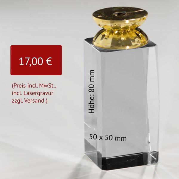 Kristallglas Quader Sockel / Standfuß