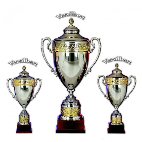 Siegertrophäe Champion Cup Vereinsauszeichnung Edle Silberoptik