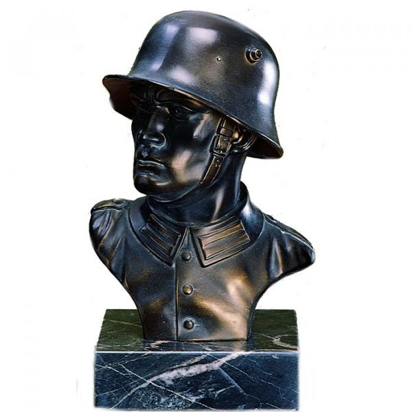 Exklusive Ehren Figur Offizier Soldat Krieg Veteran Bronzedesign