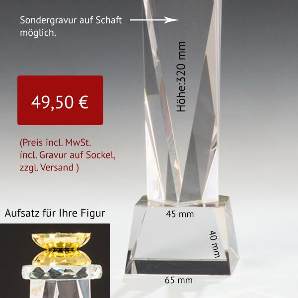 Kristallglas Tower Sockel / Standfuß