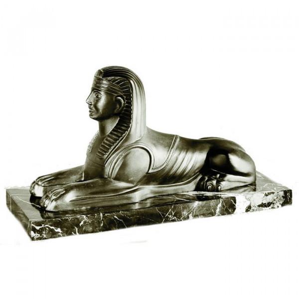 Figur Sphinx Von Gizeh Ägypten Edle Metalloptik