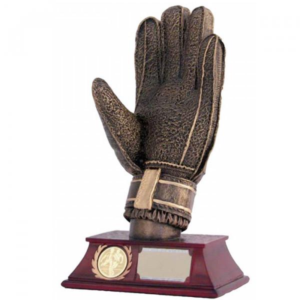 Sport Figur Torwart Handschuh Trophy Edle Optik