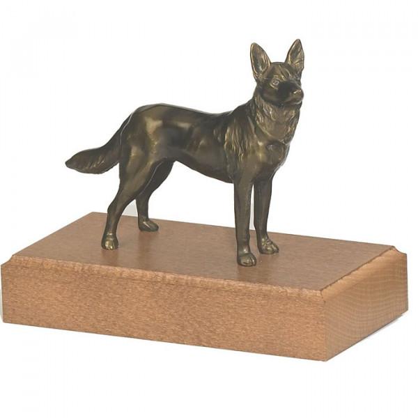 Figur Schäferhund Hundetrainer Verein Auszeichnung Bronzeoptik