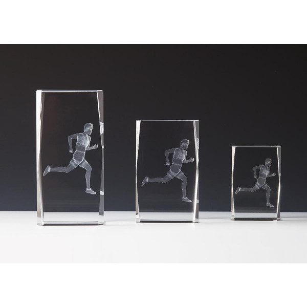 Quader Sockel Kristallglas Läufer Cheryl
