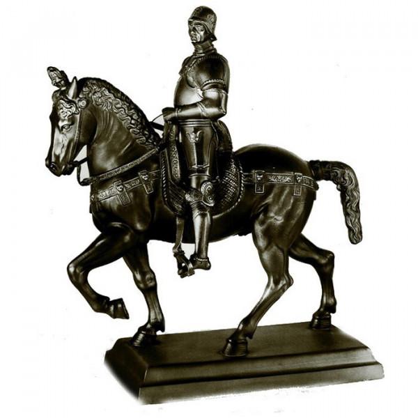 Außergewöhnliche Figur Reiterstandbild Bartolomeo Colleoni