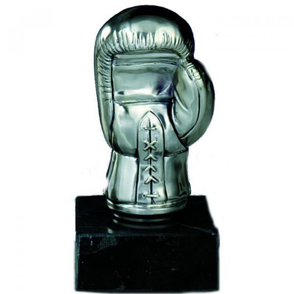 Figur Boxen Handschuh Edles Silberdesign Wanderpokal Siegerehrung