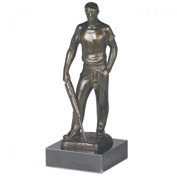 Hochwertige Metall Figur Bergmann Bergbau Auszeichnung Ehrung