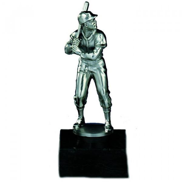 Sport Figur Baseball Herren Pokal Ehrenpreis Silberoptik