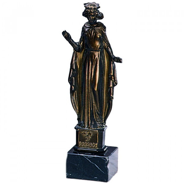 Ehren Figur St Barbara Schutzpatronin Bergleute